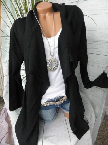 Sheego Cardigan Tricot Veste Taille 44//46 à 52//54 noir son doux descendant 653