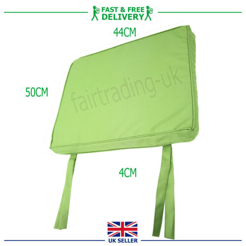 WATERPROOF Chair Seat Pad OUTDOOR Tie On Garden Patio REMOVABLE COVERS 44x50x4cm
