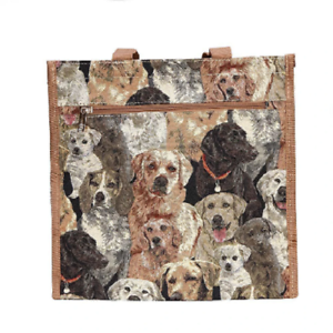 Signare-Labrador-Tasche-Hund-Gobelin-Einkaufstasche-Beutel-Shopper-Tapestry-Bag