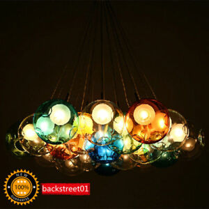 Modern colorful glass bubble led pendant light chandelier ceiling image is loading modern colorful glass bubble led pendant light chandelier aloadofball Image collections