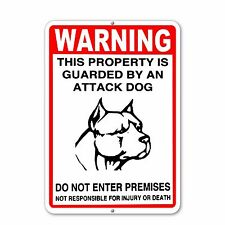 "Warning Sign - Attack Dog on Duty Sign Beware of dog sign 10""x14"""