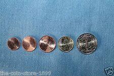 1 + 2 + 5 + 10 Cent + 2 Euro Kursmünze 2016 Frankreich UNC Rolle Kursmünzen