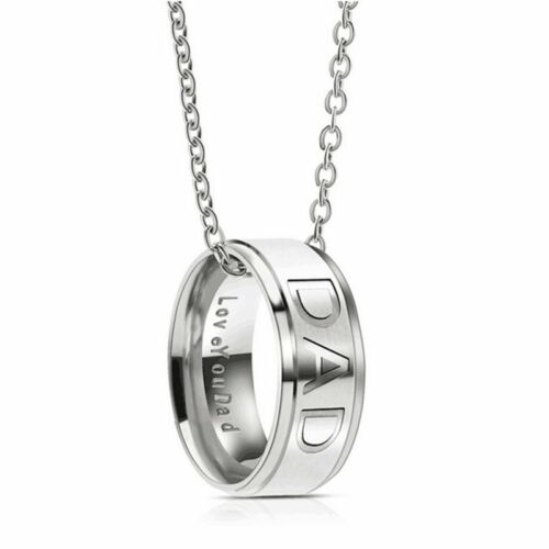 MOM DAD Stainless Steel MOMMY PAPA Pendant Necklace Silver Letter Family Jewelry