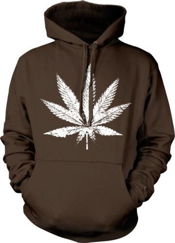 Big Pot Leaf Marijuana Weed 420 Ganja Smoke Toke Dank Hoodie Pullover Sweatshirt