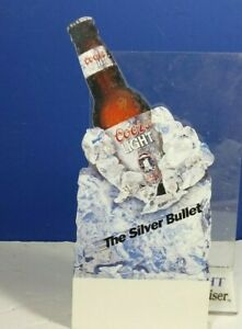 COORS-LIGHT-THE-SILVER-BULLET-TABLE-TOP-CARD-TENT