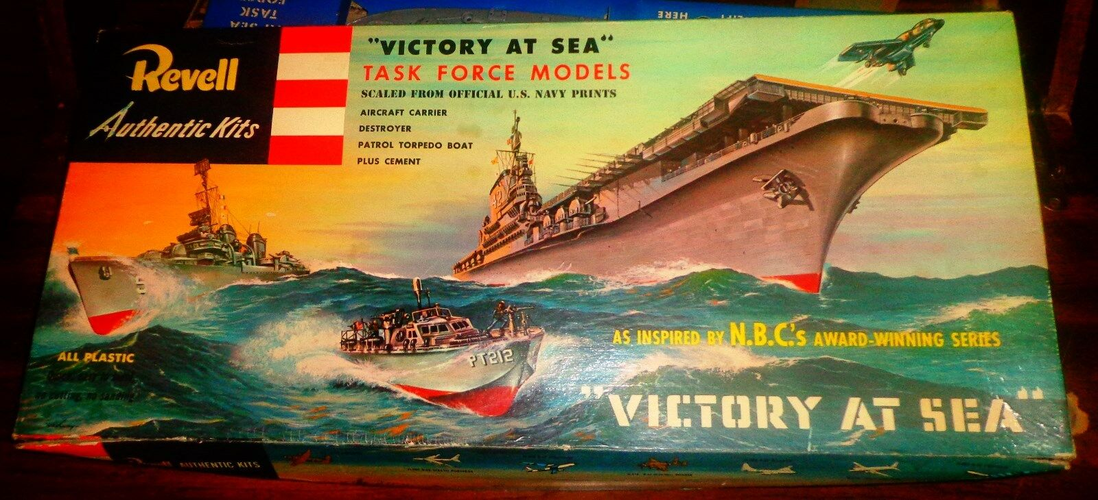 REVELL  VICTORY AT SEA [1955 NOT 1956  ]- PT 212. USS THE SULLIVANS.  USS FDR