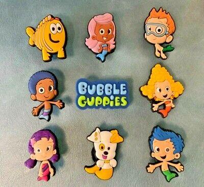 9 X Bubble Guppies Jibbitz Charm Scarpa Fatta Per Crocs & Braccialetti,-