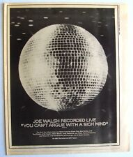 Joe Walsh 1976 Poster Ad You Can'T Argue With A Sick Mind