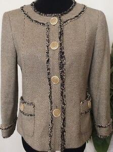 Suits & Suit Separates Clothing, Shoes & Accessories Lafayette 148 Ny Women Career Beige/brown Cotton Blend Tweed Blazer Jacket Sz 4 Convenience Goods