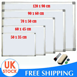 Wall Mounted Dry Erase Whiteboard for Notices /& Reminders 60 x 90 cm Magnetic Whiteboard Dry Wipe Board