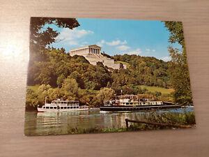 Postkarte Walhalla bei Regensburg erbaut 1830 bis 1842  Schiffe Walhalla u Hateg
