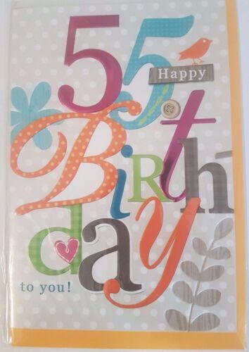 55 Jahre fünfundfünfzig Geburtstag Glückwunschkarten Grußkarte viele Varianten