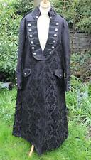STUNNING LONG BLACK BROCADE PIRATE COAT ~ NWT ~ GOTH WHITBY STEAMPUNK ~ SIZE M/L