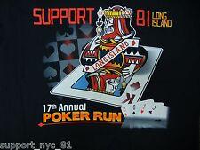 Support 81 Hells Angels Long Island New York 2015 Poker Run T Shirt SMALL