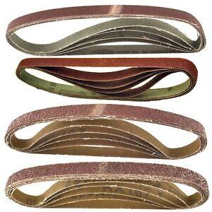 Belt-Power-File-Sander-Abrasive-Sanding-Belts-457mm-x-13mm-Mixed-Grit-20pk