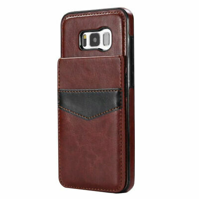 Samsung Galaxy S6 S7 S8 S9 S9+ Leather Card Holder Wallet Stand Back Cover Case