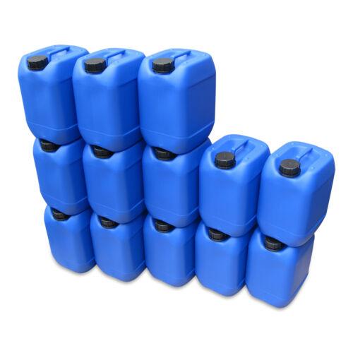 13 Stück 10 Liter Kanister blau Camping Plastekanister Wasserkanister NEU DIN51.