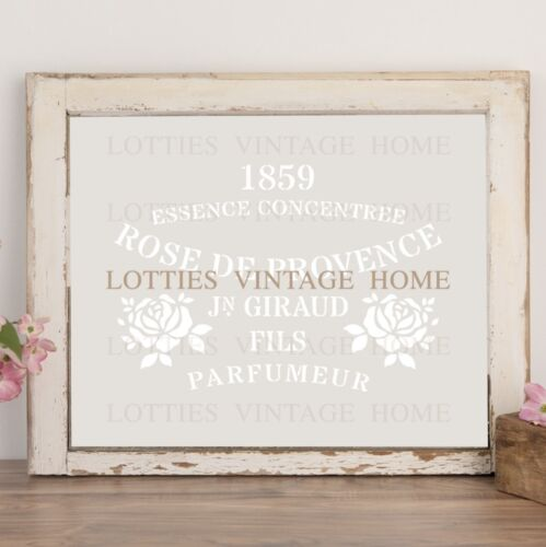 Plantilla de A5 Rosa de Provence ❤ Muebles Vintage Francés Shabby Chic de Mylar de 190