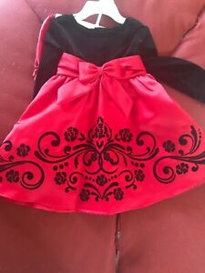 Rare Editions Christmas Dresses.Details About Nwt Rare Editions Red Velvet Christmas Dress 18m