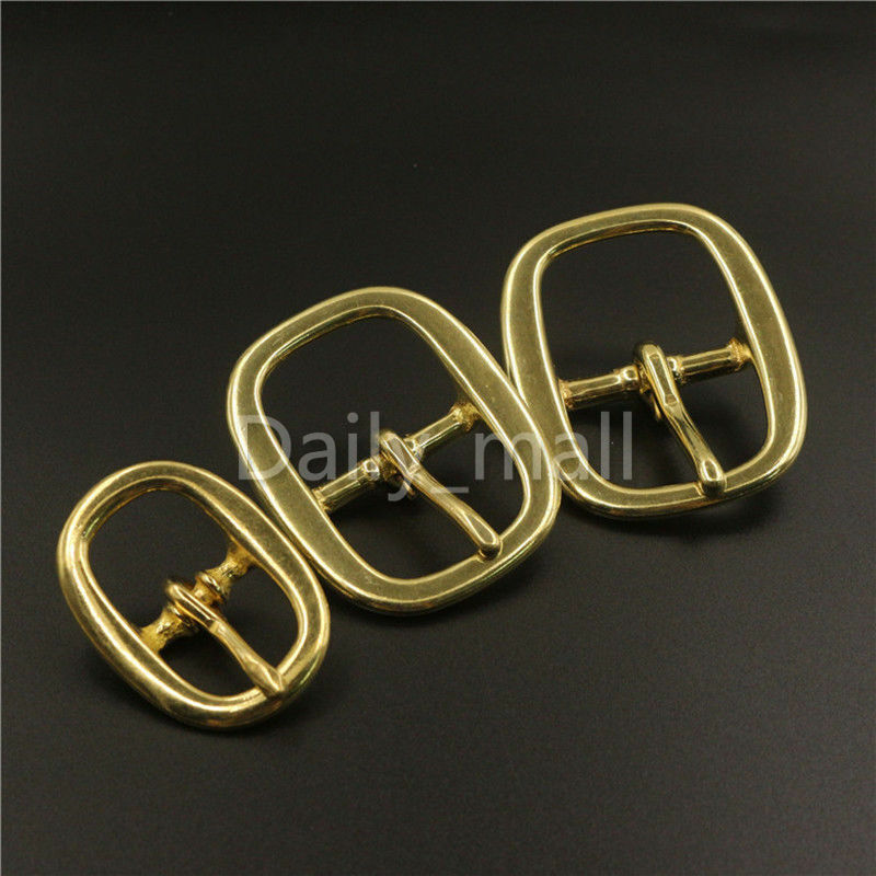 """Nickeled Brass 1 1//2/"""" Middle Bar Buckle Solid Brass Pack Of 2"""