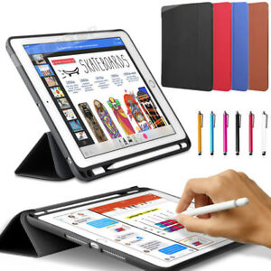 For-iPad-Pro-10-5-034-12-9-034-2017-Case-PU-Slim-Smart-Cover-With-Apple-Pencil-Holder