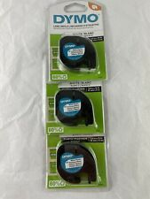 Dymo Letratag 12 In X 13 Ft White Plastic Refill Cartridges 91331 Lot Of 3