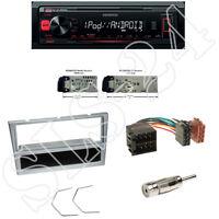 Kenwood KMM-202 USB Radio Opel Vivaro / Combo Blende matt-chrom ISO Adapter