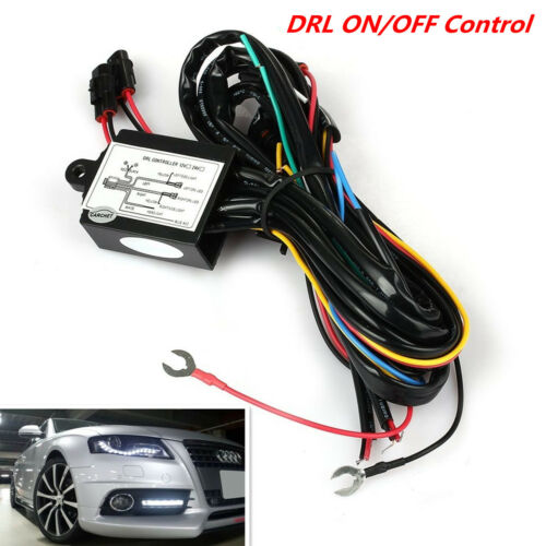LED Daytime Running Light DRL Relay Harness Automatic On//Off Control Switch Kit