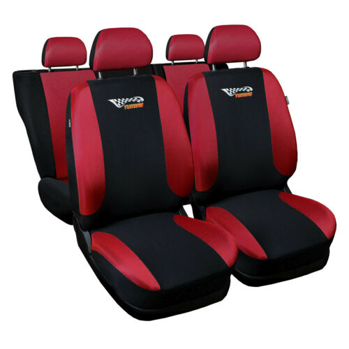Universal Autositzbezüge für Fiat Doblo Rot Sitzbezüge Sitzbezug Autositz Tuning