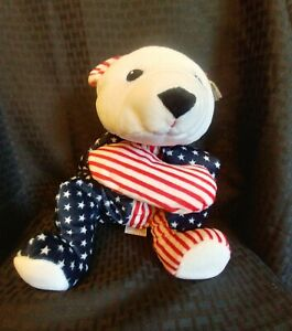 TY Beanie Baby  Pillow Pal - SPARKLER the Bear (14 inch) - Mint With Mint Tags
