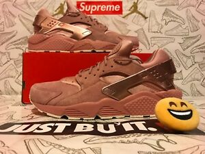 premium selection 7b042 9c2cf Image is loading Nike-Air-Huarache-Run-Prm-Rust-Pink-Sail-