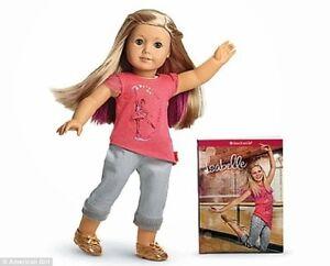 NEW-American-Girl-ISABELLE-18-034-Doll-Ballet-Hair-Extensions-Pierced-ears-earrings