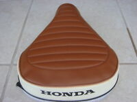 Honda Nc50 Express Replacement Seat Cover Black Dyed Logo Brown &white