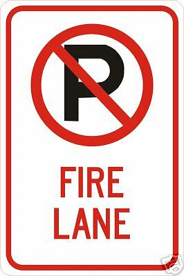 REAL NO PARKING FIRE LANE ROAD STREET TRAFFIC SIGNS