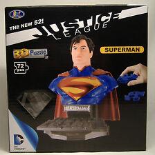 SUPERMAN NEW 52 3-D PUZZLE BUST DC COMICS JUSTICE LEAGUE UNIVERSE MISB 2014 RARE