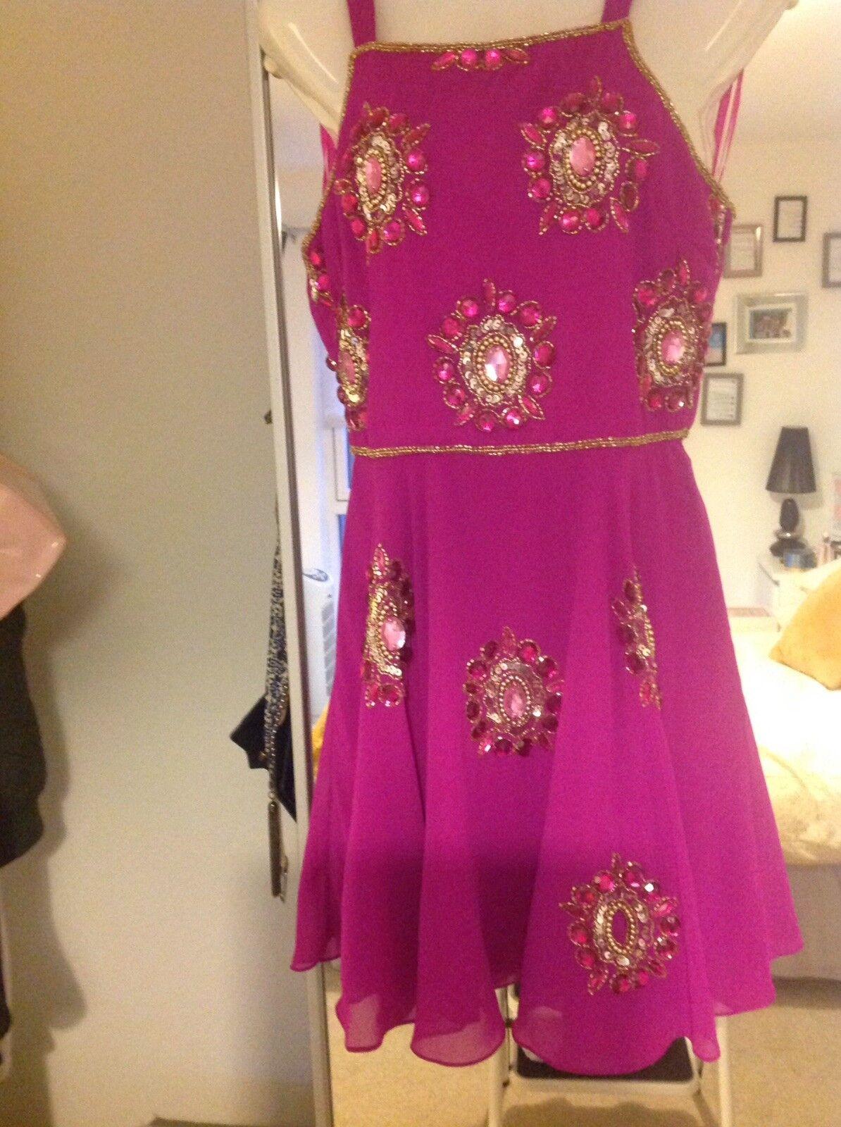 Virgos Lounge Pink Sparkling Dress