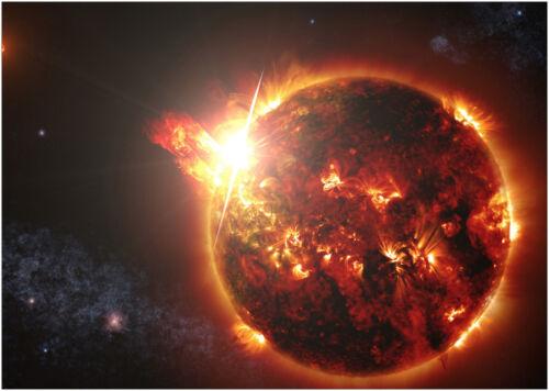 Space Star Sun Flair Supernova Large Poster Wall Art Print A0 A1 A2 A3 Maxi