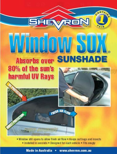 Shevron Window Socks Sox for Mitsubishi Colt RG 5 DR HATCH 7//2004 on