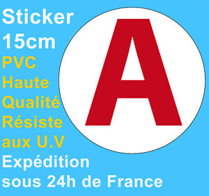 Sticker-Autocollant-Disque-A-apprenti-jeune-conducteur-automobile-voiture-15cm