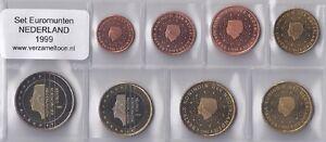 NEDERLAND-UNC-EURO-SET-1999-serie-van-8-munten-1-cent-t-m-2-euro