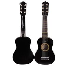 "Black 21"" 6 String Beginners Practice Acoustic Guitar Musical Instruments Kids"