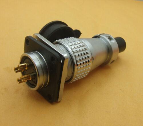 1 set XLR 20mm PLS20 4-Pin Aviation Plug Male Female socket Panel Power Chassis