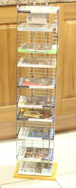 New Wood Base Tower Free Standing DVD Storage Unit Rack XBOX PLAYSTATION GAMES