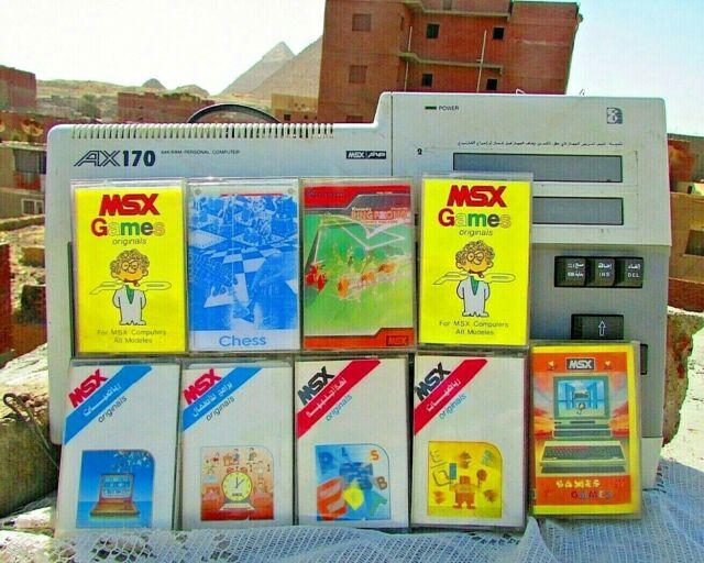 Vintage Computer Sakhr MSX AX170 (صخر ) With 9 Tapes Of Rare Games -  Konami £4