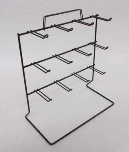 New 3 Tier 12 OSHA Loop Peg Hook Key Chain Counter Top Black Display Rack