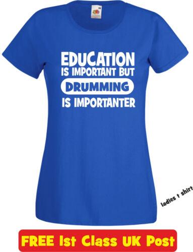 Education DRUMMING  t shirt funny novelty christmas birthday xmas gift mens kids