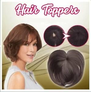 Silky-Clip-On-Hair-Topper-Short-Straight-Hair-Wig-Full-Wigs