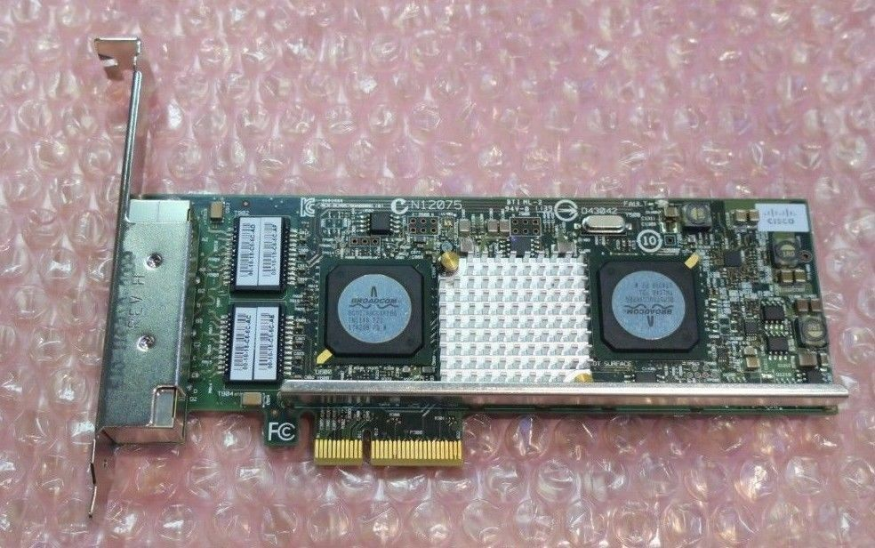 Cisco Broadcom 5719 N12075 Quad Port 1GbE Ethernet PCI-e Network Adapter 74-7069