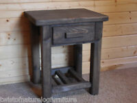 Timberjack Nightstand / Endtable With Single Drawer & Shelf - Free Shipping