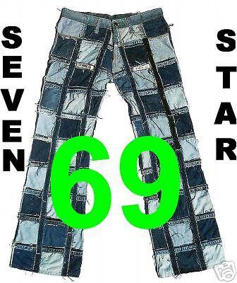 Jeans SEVEN STAR 69 g 31 34 Sexy 70er Hüft Bootcut Hose